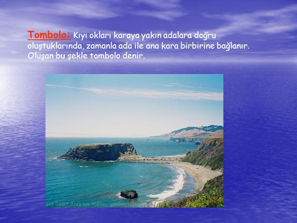 Tombolo: Kıyı okları karaya yakın adalara doğru