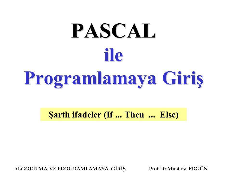 PASCAL ile Programlamaya Giriş