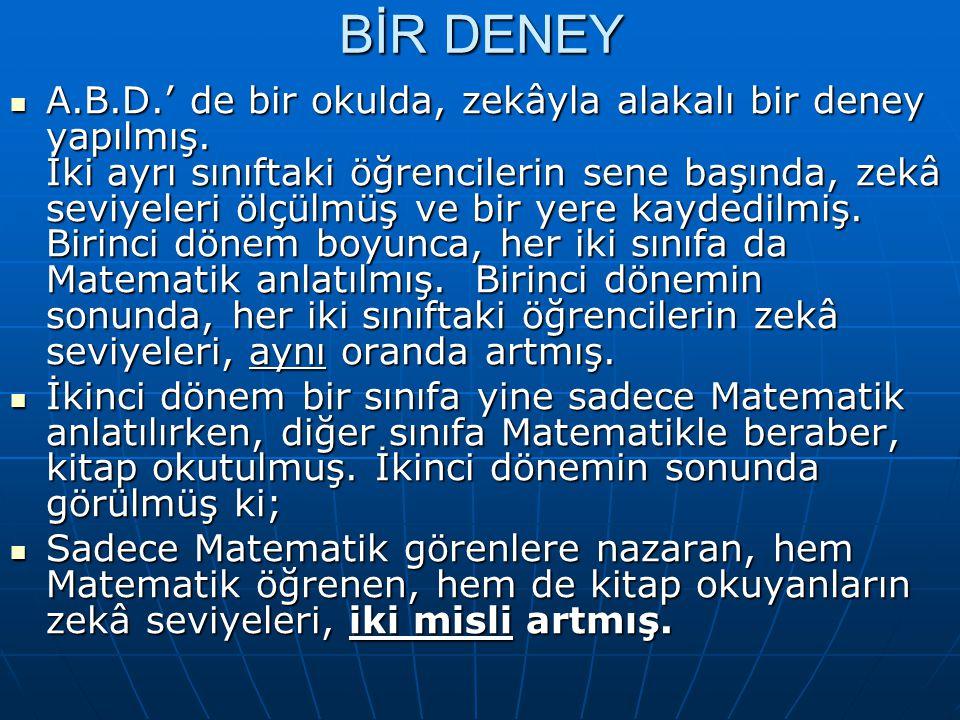 BİR DENEY