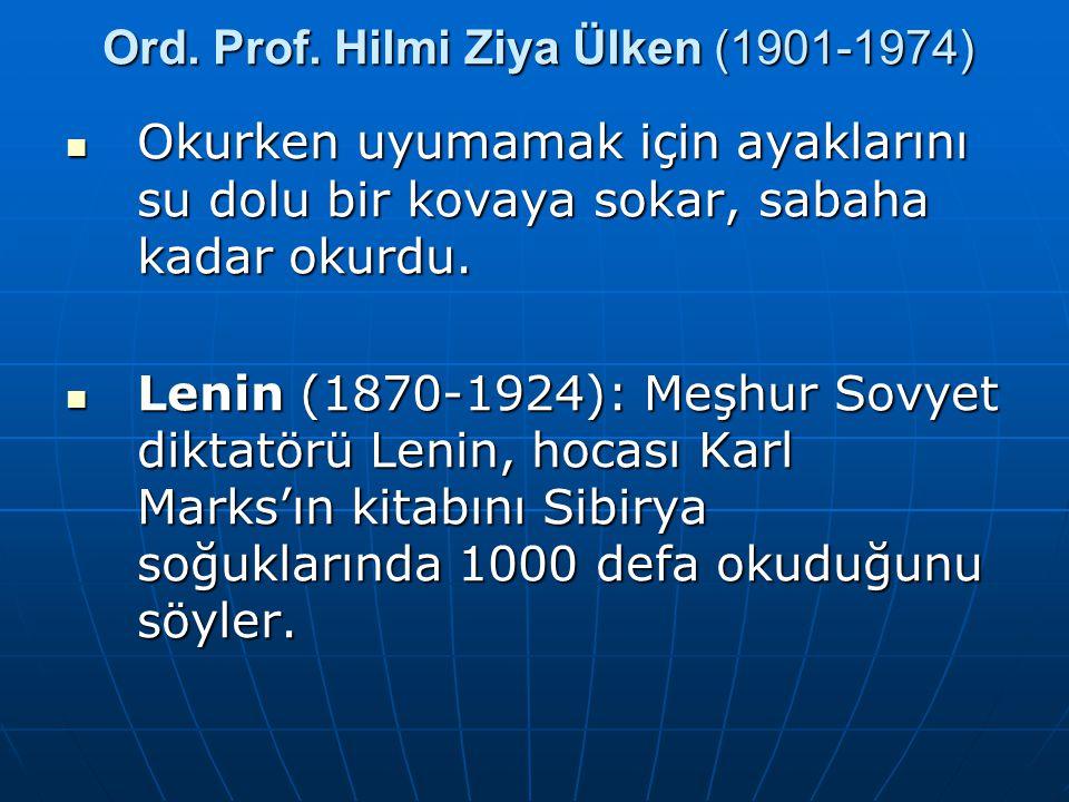Ord. Prof. Hilmi Ziya Ülken (1901-1974)