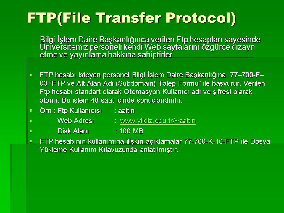 FTP(File Transfer Protocol)