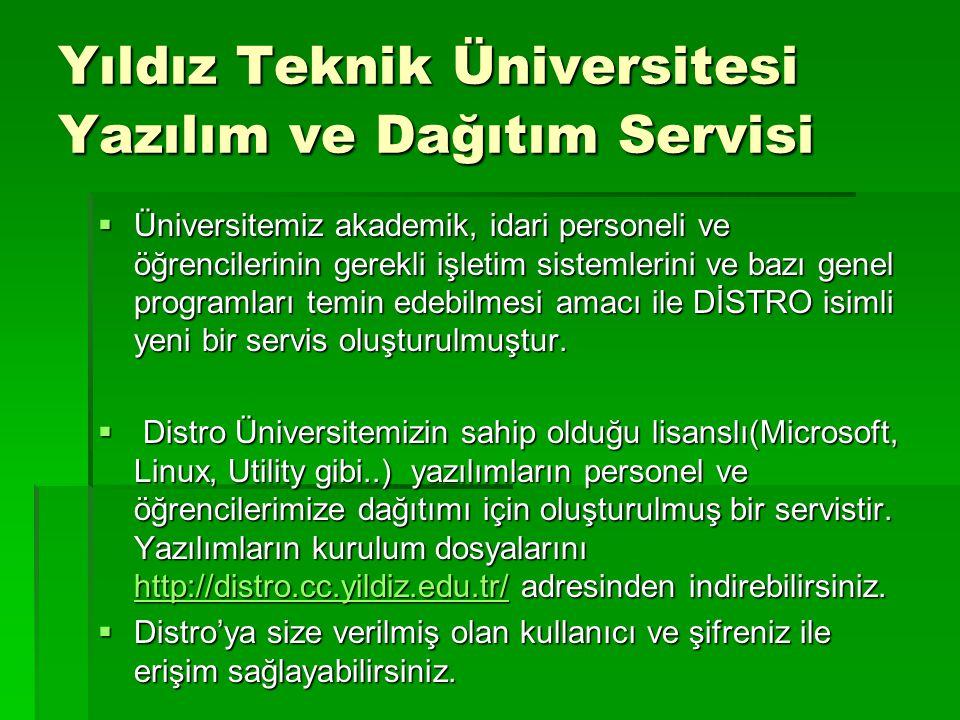 Yıldız Teknik Üniversitesi Yazılım ve Dağıtım Servisi