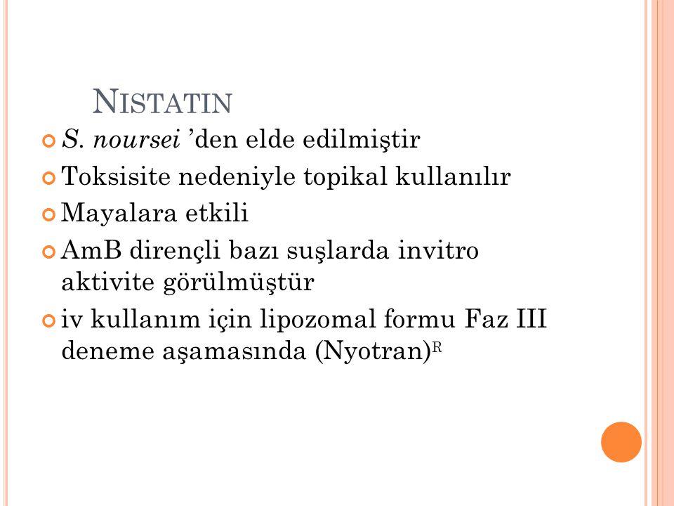 Nistatin S. noursei 'den elde edilmiştir