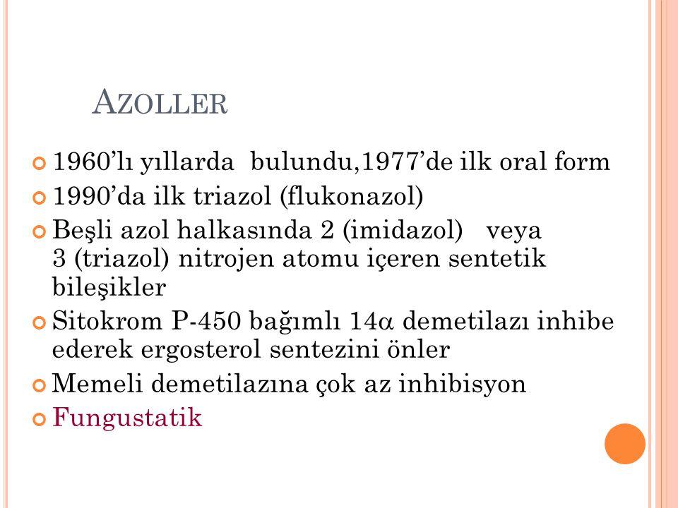 Azoller 1960'lı yıllarda bulundu,1977'de ilk oral form