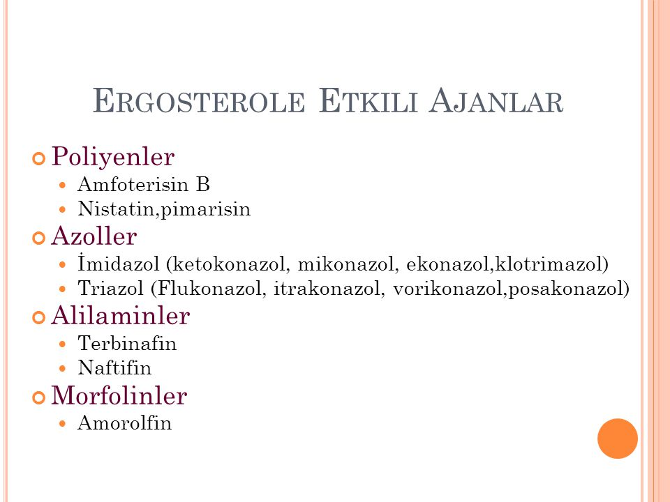 Ergosterole Etkili Ajanlar
