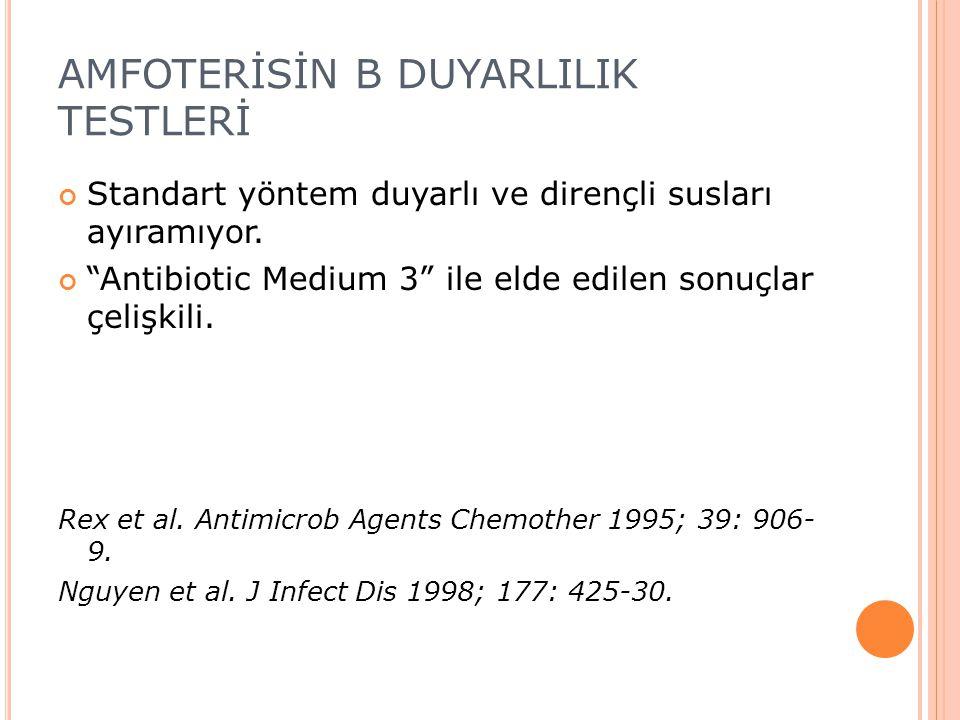 AMFOTERİSİN B DUYARLILIK TESTLERİ