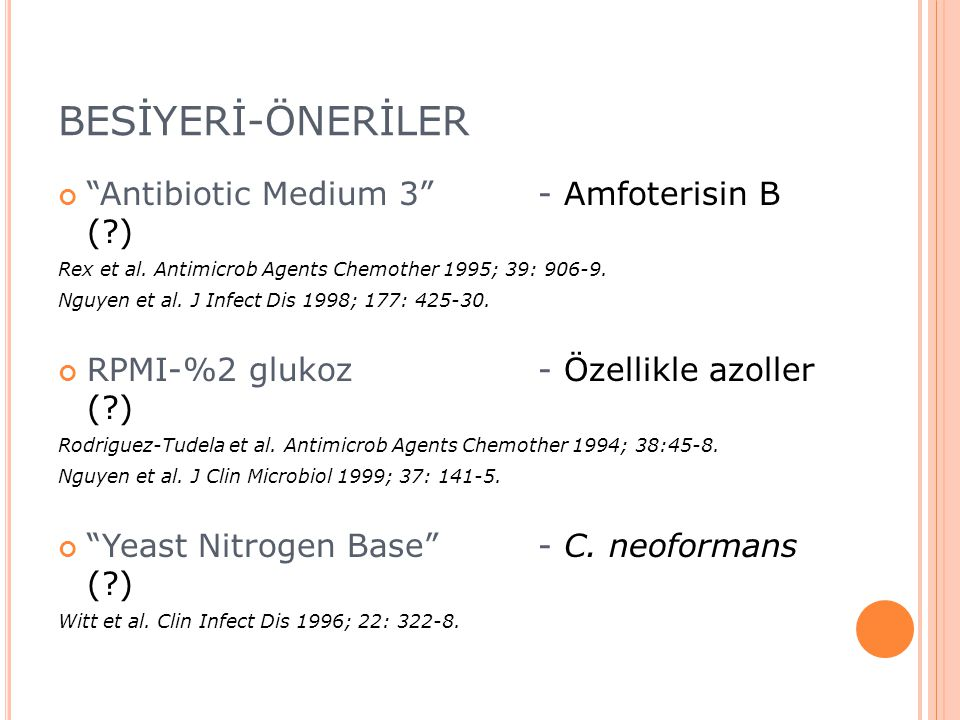 BESİYERİ-ÖNERİLER Antibiotic Medium 3 - Amfoterisin B ( )