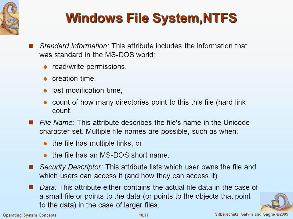 Windows File System,NTFS