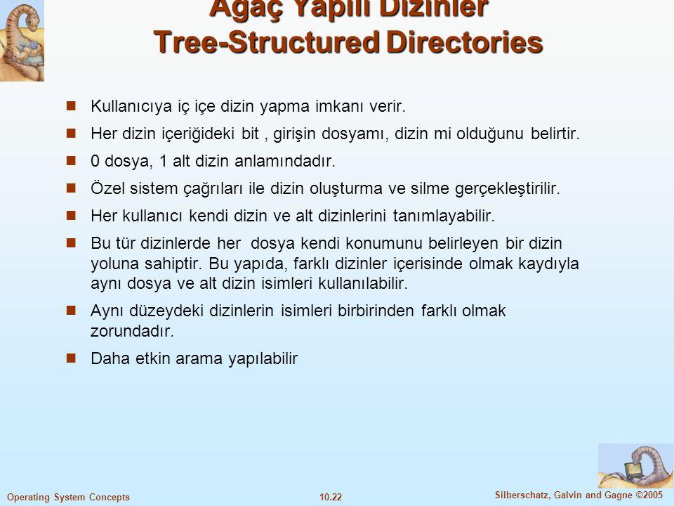 Ağaç Yapılı Dizinler Tree-Structured Directories