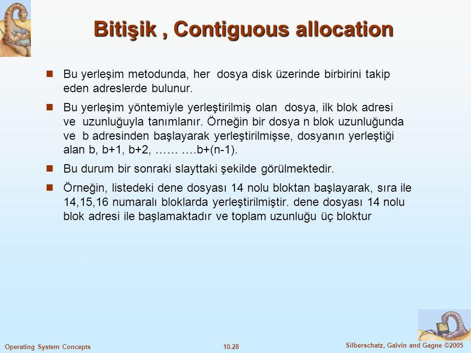 Bitişik , Contiguous allocation