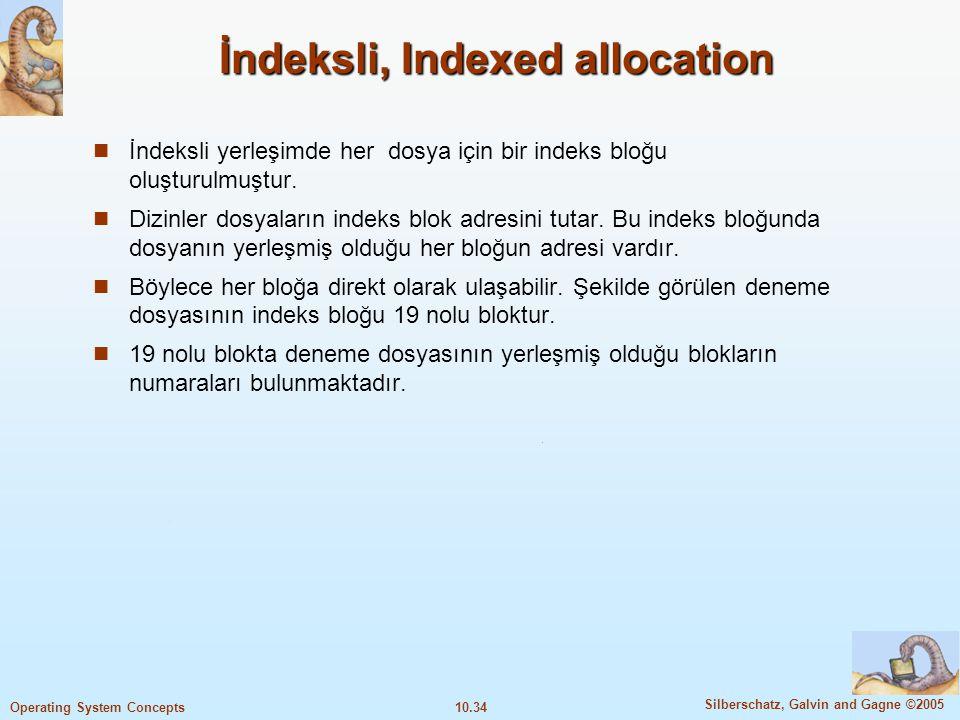 İndeksli, Indexed allocation