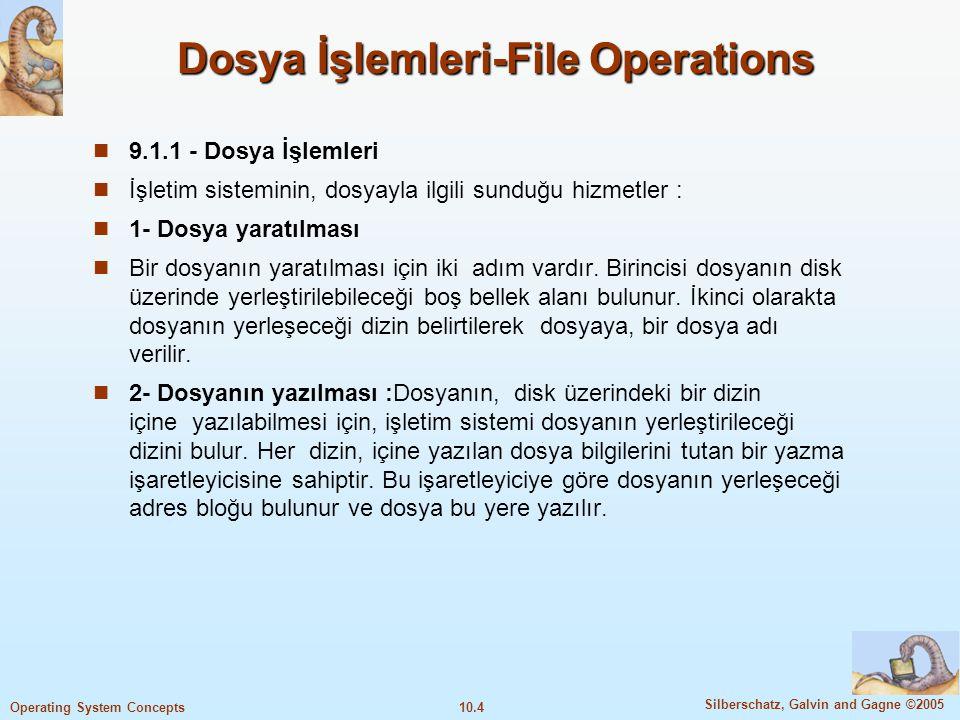 Dosya İşlemleri-File Operations