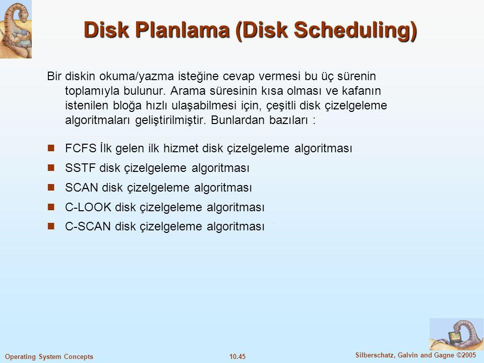 Disk Planlama (Disk Scheduling)