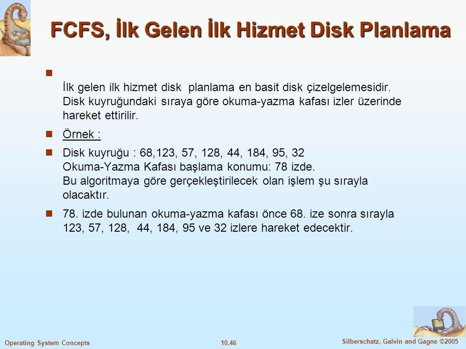FCFS, İlk Gelen İlk Hizmet Disk Planlama