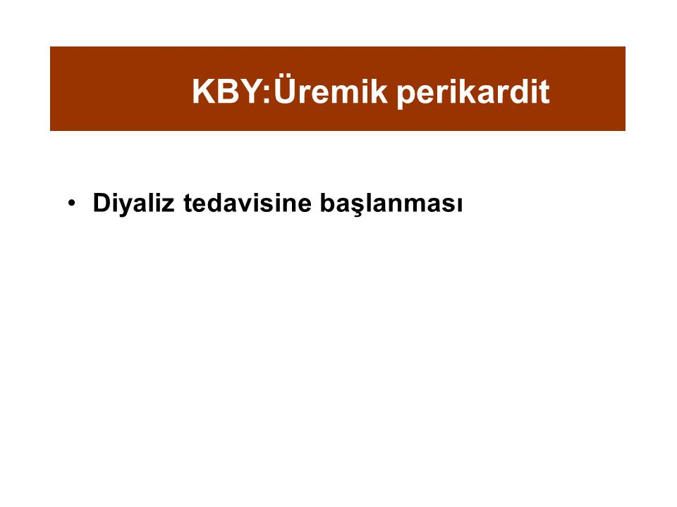 KBY:Üremik perikardit