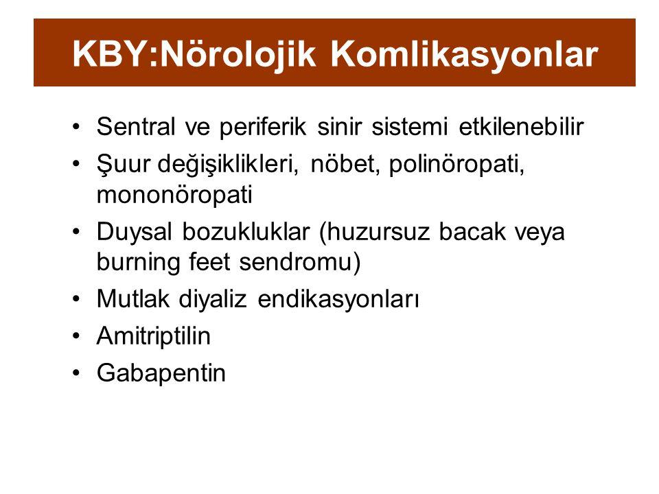 KBY:Nörolojik Komlikasyonlar
