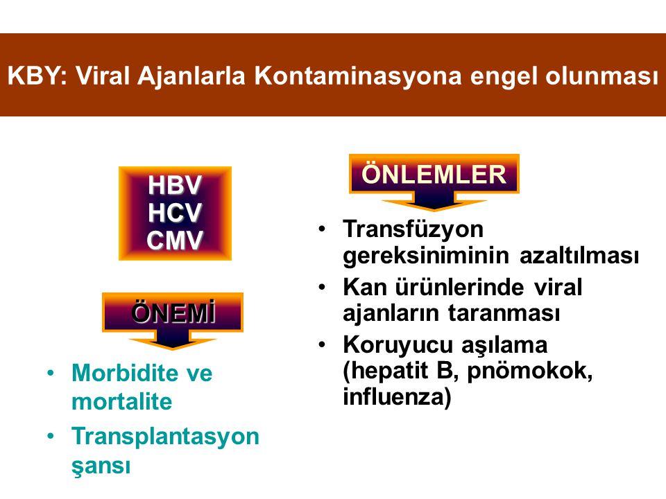 KBY: Viral Ajanlarla Kontaminasyona engel olunması