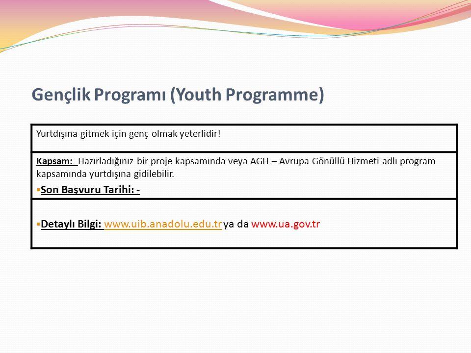 Gençlik Programı (Youth Programme)