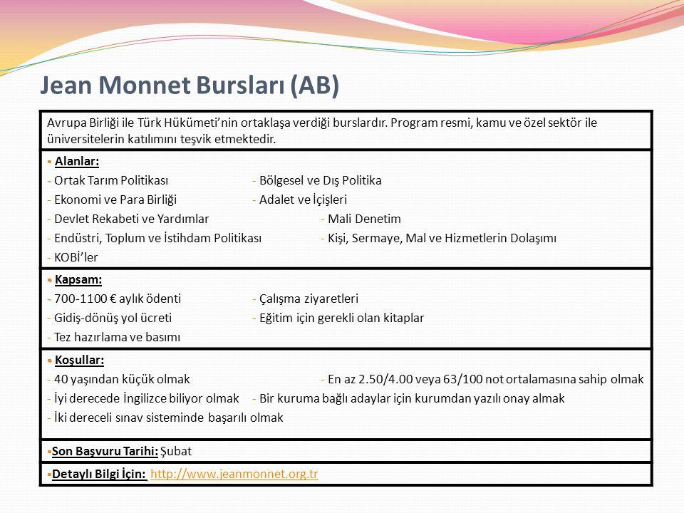 Jean Monnet Bursları (AB)