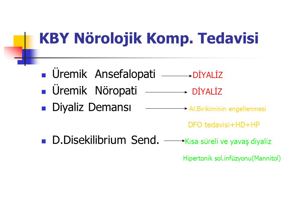 KBY Nörolojik Komp. Tedavisi