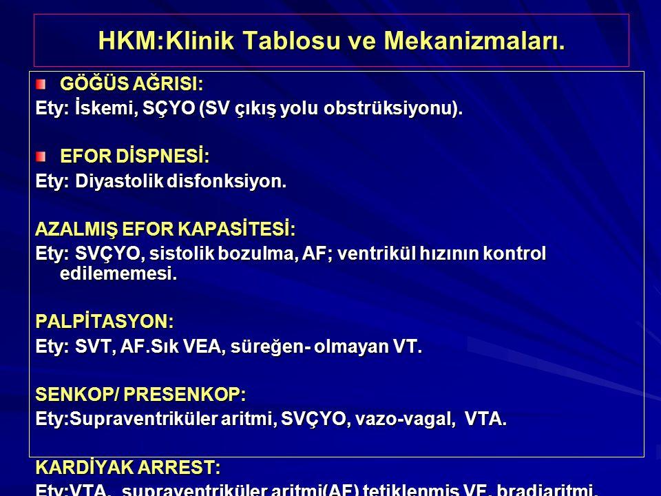 HKM:Klinik Tablosu ve Mekanizmaları.