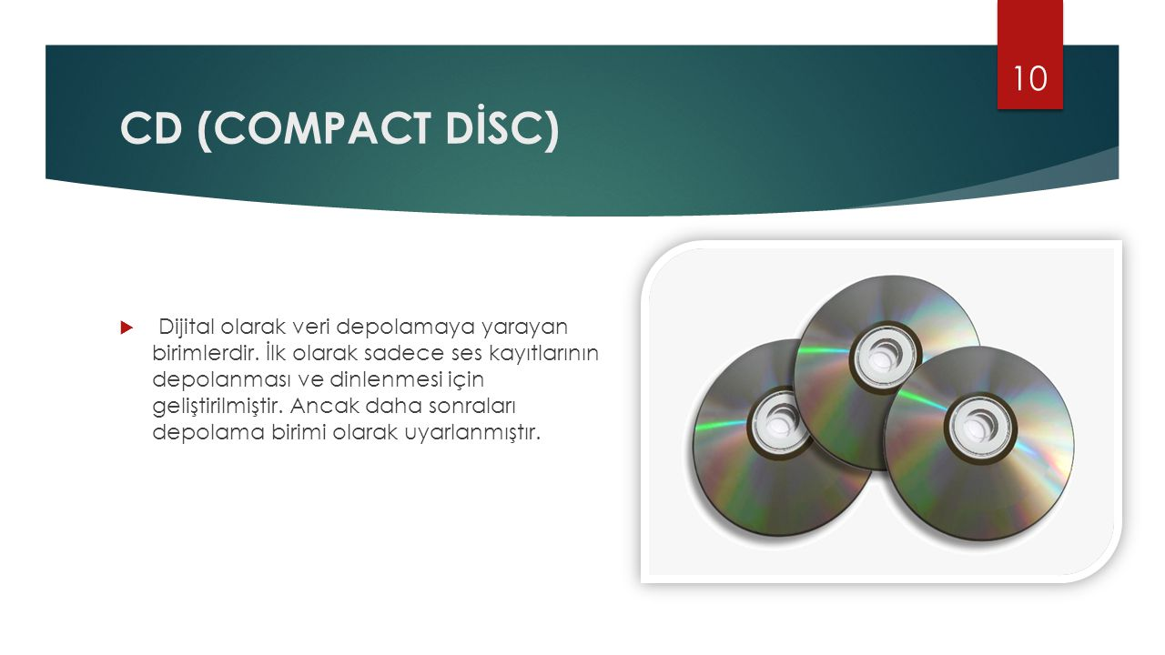 CD (COMPACT DİSC)