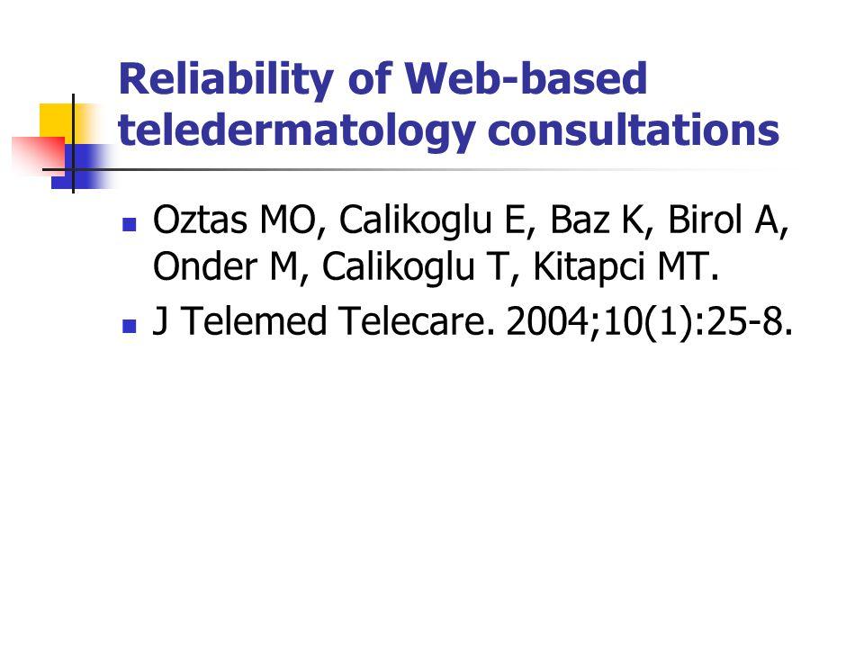 Reliability of Web-based teledermatology consultations