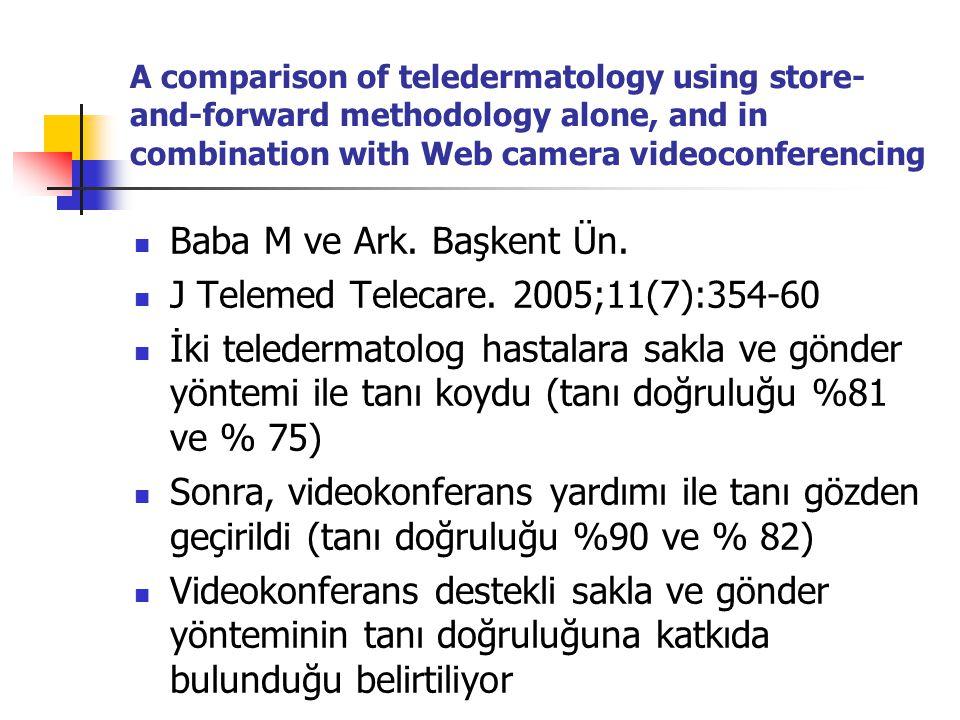 J Telemed Telecare. 2005;11(7):354-60