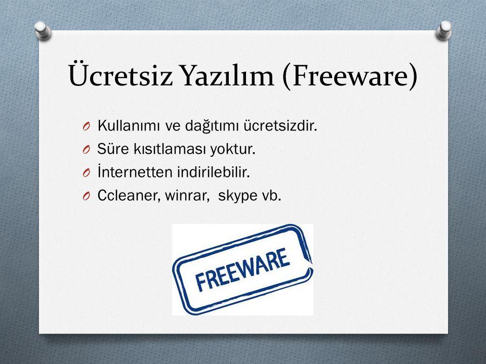 Ücretsiz Yazılım (Freeware)