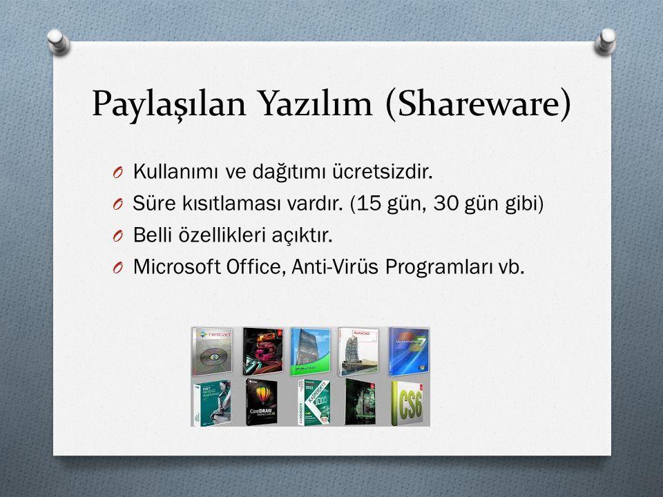 Paylaşılan Yazılım (Shareware)