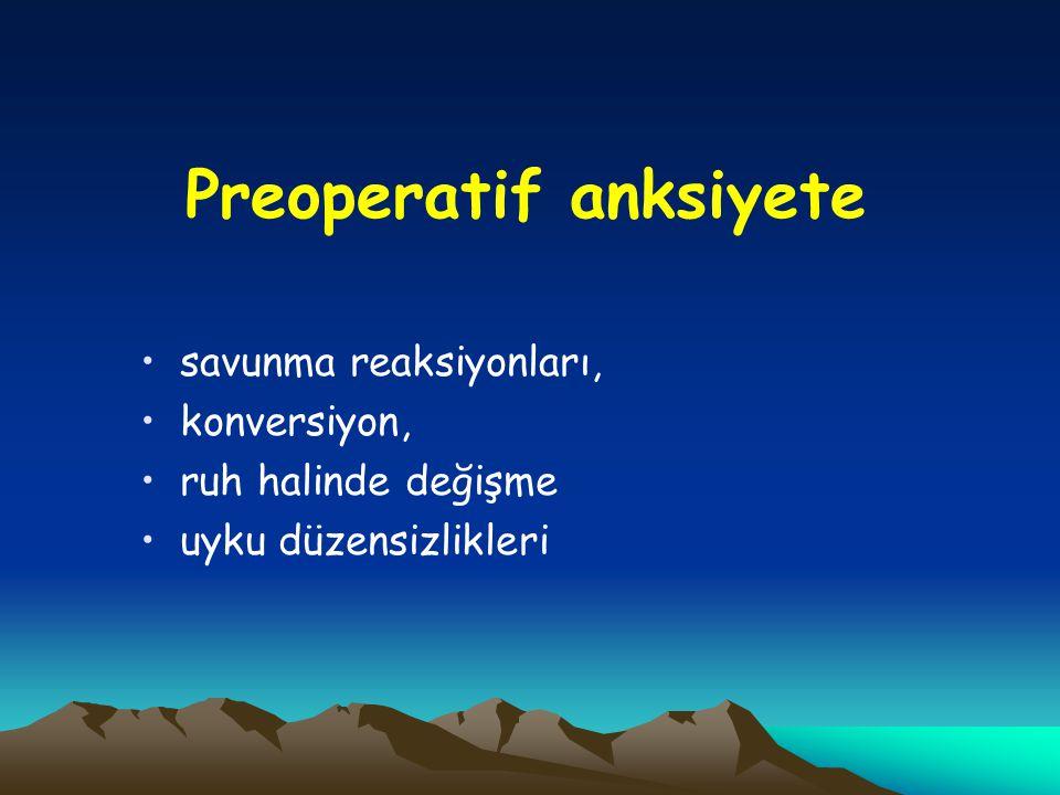 Preoperatif anksiyete