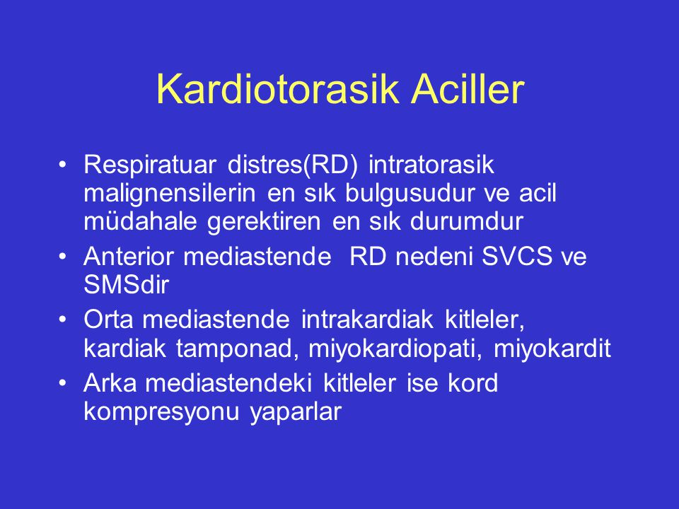 Kardiotorasik Aciller