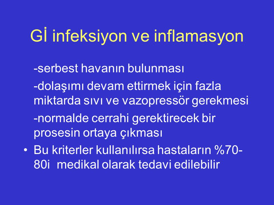 Gİ infeksiyon ve inflamasyon