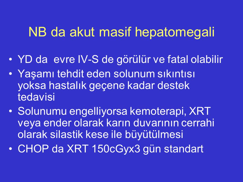 NB da akut masif hepatomegali