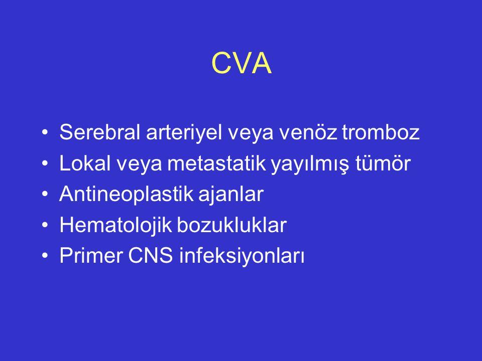 CVA Serebral arteriyel veya venöz tromboz