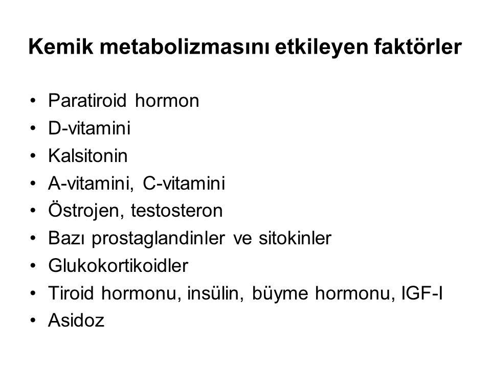 Kemik metabolizmasını etkileyen faktörler
