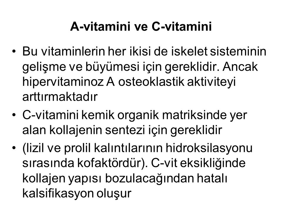 A-vitamini ve C-vitamini