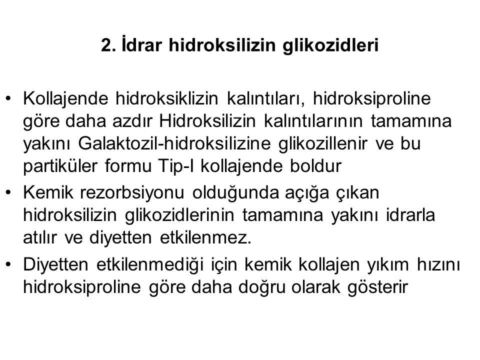 2. İdrar hidroksilizin glikozidleri