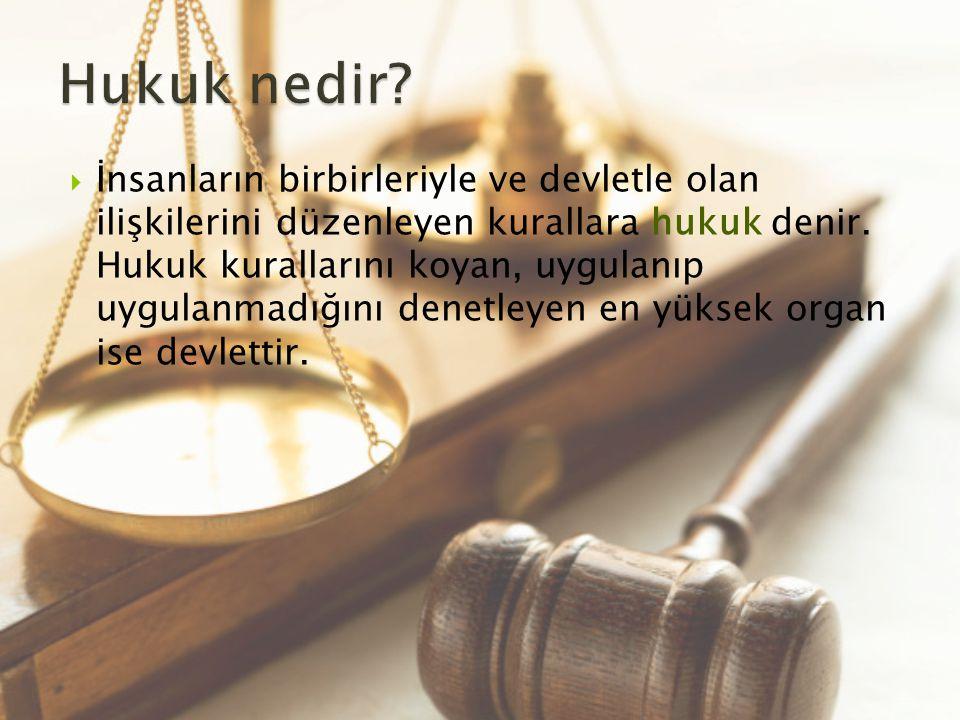 Hukuk nedir