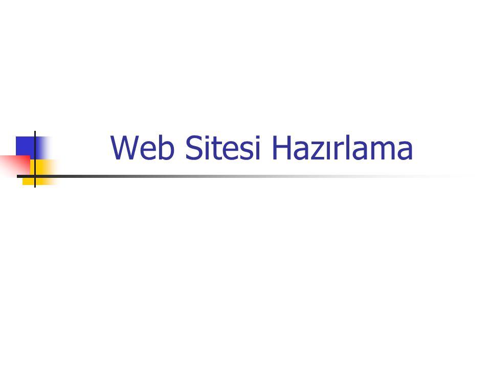 Web Sitesi Hazırlama
