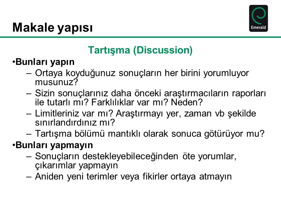 Tartışma (Discussion)