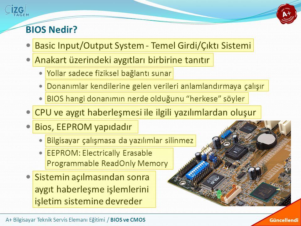 BIOS Nedir Basic Input/Output System - Temel Girdi/Çıktı Sistemi