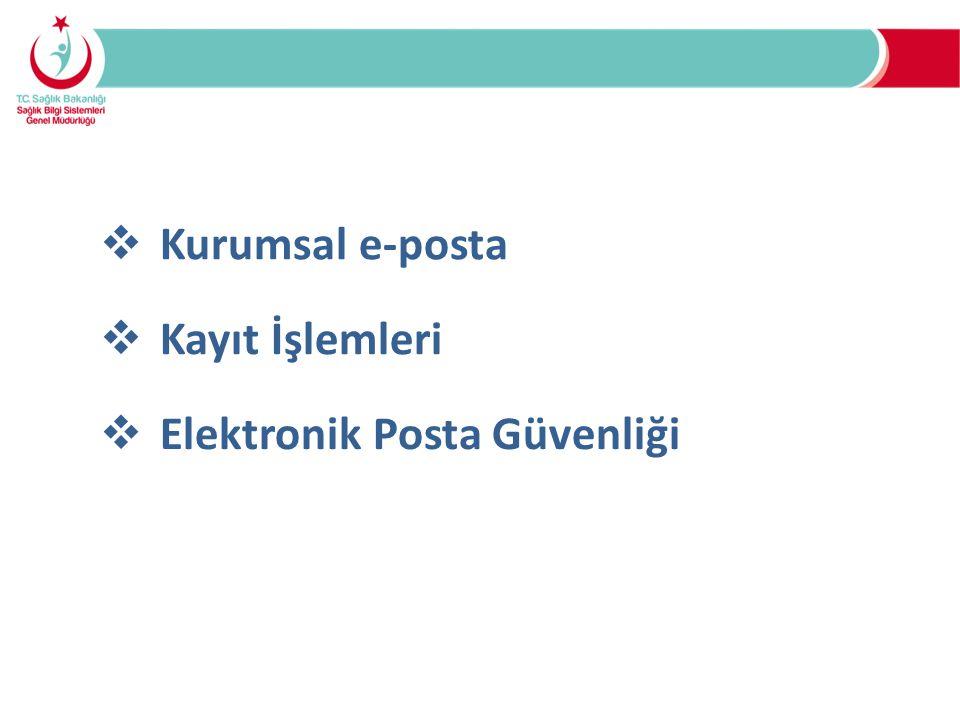 Kurumsal e-posta Kayıt İşlemleri Elektronik Posta Güvenliği
