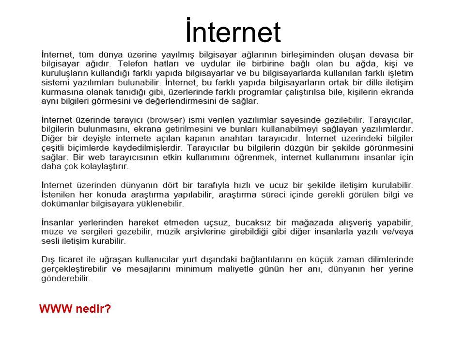İnternet WWW nedir