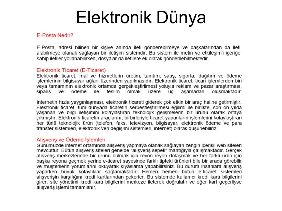 Elektronik Dünya