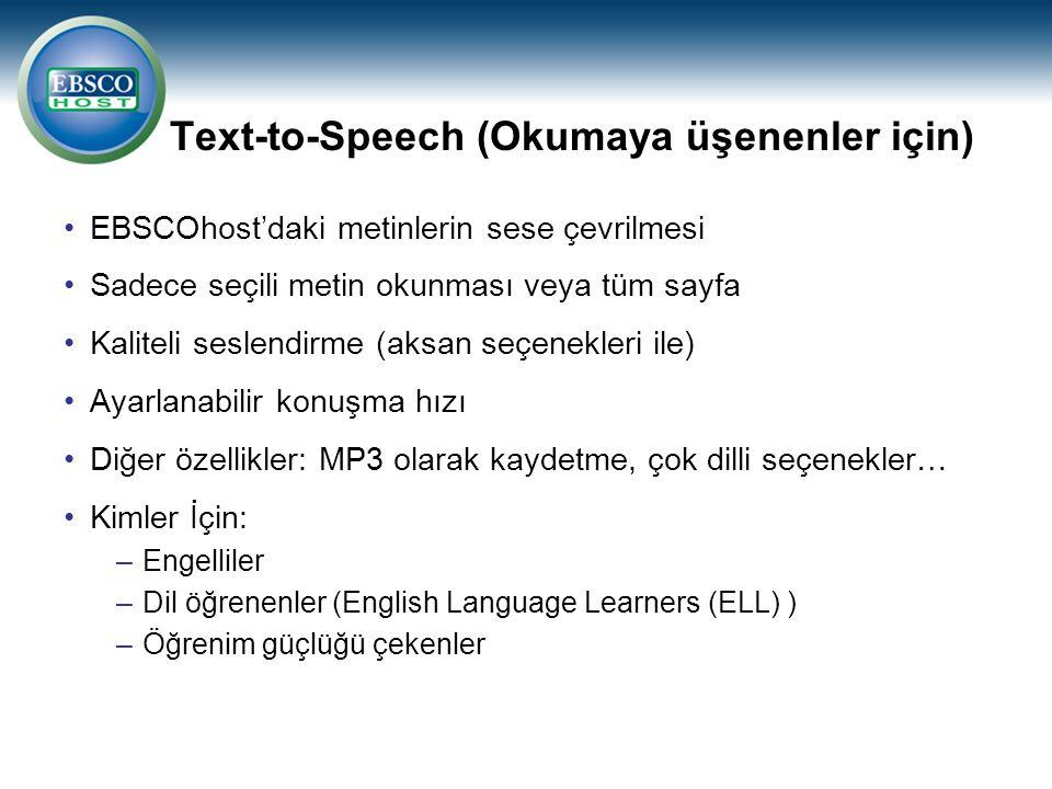 Text-to-Speech (Okumaya üşenenler için)