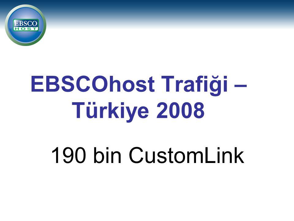 EBSCOhost Trafiği – Türkiye 2008