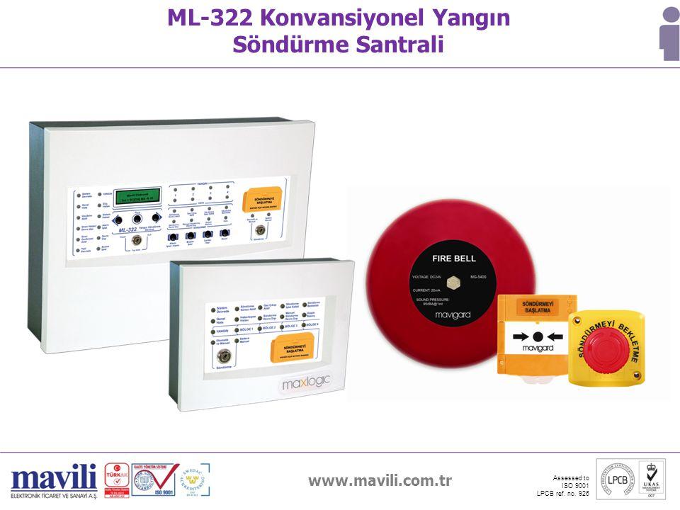 ML-322 Konvansiyonel Yangın Söndürme Santrali