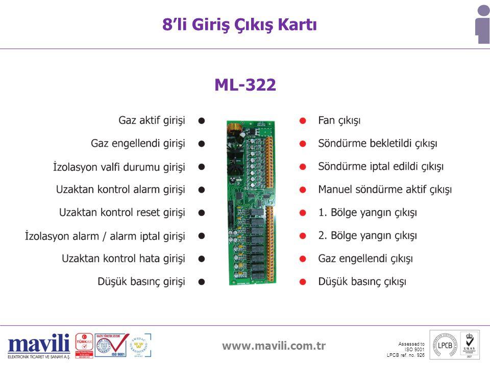 8'li Giriş Çıkış Kartı ML-322