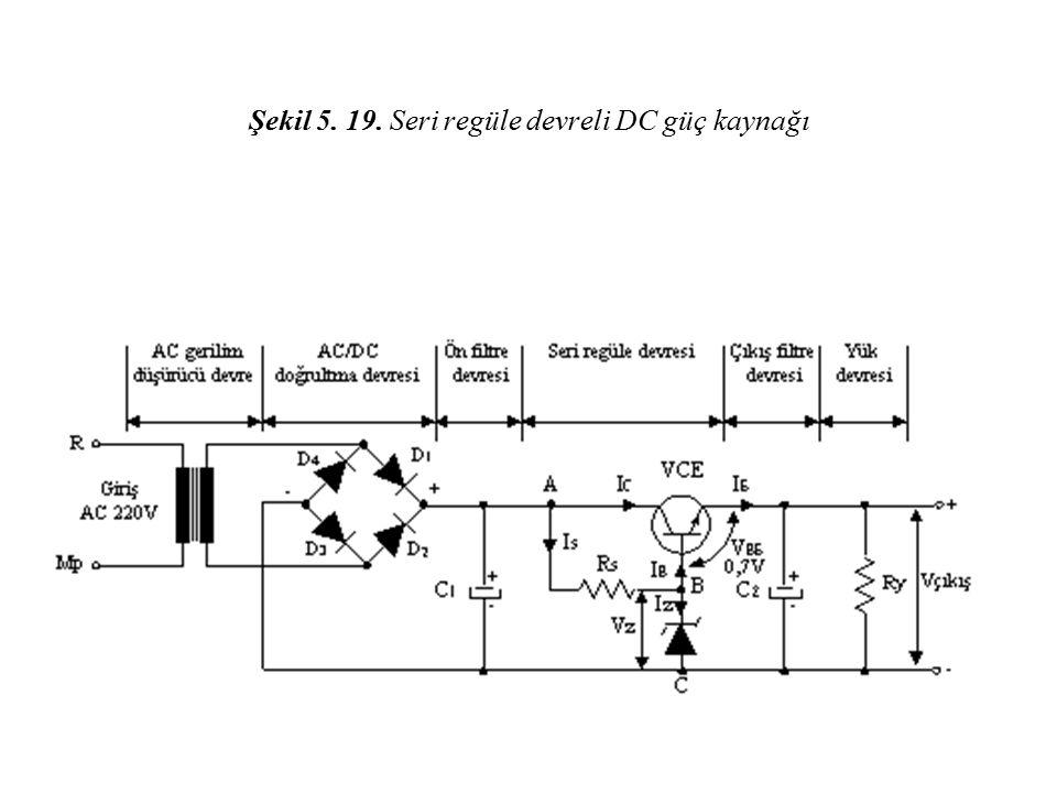 Şekil 5. 19. Seri regüle devreli DC güç kaynağı